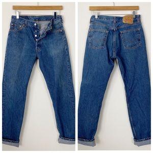VINTAGE LEVI'S 501 High Waist Button Fly Jeans